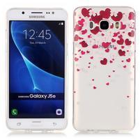Průhledný obal na mobil Samsung Galaxy J5 (2016) - srdčíka