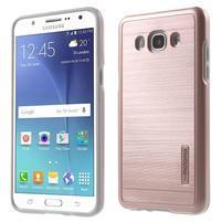 Gelový obal s plastovou výstuhou na Samsung Galaxy J5 (2016) - růžový
