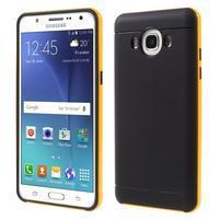 Hybridní obal 2v1 na mobil Samsung Galaxy J5 (2016) - žlutý