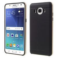 Hybridní obal 2v1 na mobil Samsung Galaxy J5 (2016) - zlatý