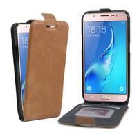 Flipové pouzdro na mobil Samsung Galaxy J5 (2016) - hnědé