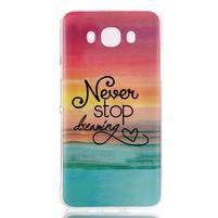 Softy gelový obal na mobil Samsung Galaxy J5 (2016) - nepřestávej snít