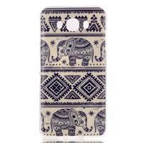 Softy gelový obal na mobil Samsung Galaxy J5 (2016) - sloni