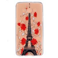 Transparentní gelový obal na Samsung Galaxy J5 (2016) - Eiffelova věž