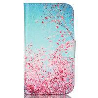 Emotive peněženkové pouzdro na Samsung Galaxy S3 - kvetoucí švestka