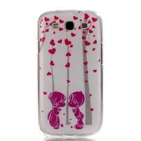 Gelový obal na mobil Samsung Galaxy S3 - láska