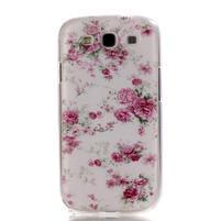 Gelový obal na mobil Samsung Galaxy S3 - květiny