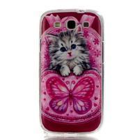 Gelový obal na mobil Samsung Galaxy S3 - koťátko