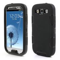 Odolné silikonové pouzdro na mobil Samsung Galaxy S3 - černé