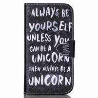Emotive peněženkové pouzdro na Samsung Galaxy S3 - unicorn