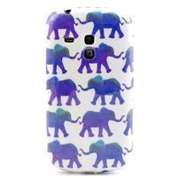 Gelový obal na mobil Samsung Galaxy S3 mini - sloníci
