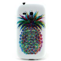 Gelový obal na mobil Samsung Galaxy S3 mini - barevní ananas