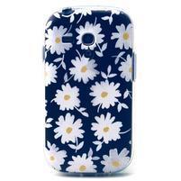 Gloss gelový kryt na Samsung Galaxy S3 mini - sedmikrásky (černé pozadí)