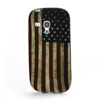 Emotive gelový obal na Samsung Galaxy S3 mini - US vlajka