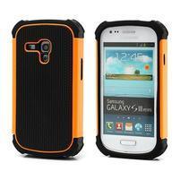 Outdoor odolný obal na mobil Samsung Galaxy S3 mini - oranžový