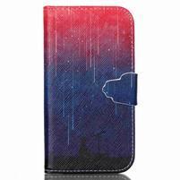 Emotive knížkové pouzdro na Samsung Galaxy S4 - meteory