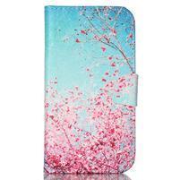 Emotive knížkové pouzdro na Samsung Galaxy S4 - kvetoucí švestka