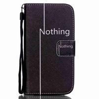 Knížkové koženkové pouzdro na Samsung Galaxy S4 - nothing
