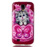 Softy gelový obal na mobil Samsung Galaxy S4 - koťátko