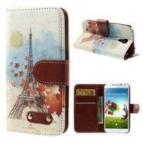 Elegant peněženkové pouzdro na Samsung Galaxy S4 - Eiffelova věž