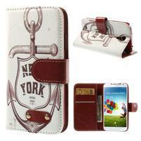 Elegant peněženkové pouzdro na Samsung Galaxy S4 - New York