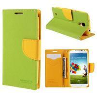 Sunny PU kožené pouzdro na mobil Samsung Galaxy S4 - zelené