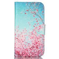 Emotive peněženkové pouzdro na Samsung Galaxy S4 mini - kvetoucí švestka