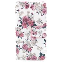 Pouzdro na mobil Samsung Galaxy S4 mini - květiny
