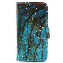 Diaryleather pouzdro na mobil Samsung Galaxy S4 mini - větve stromu