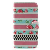 Diaryleather pouzdro na mobil Samsung Galaxy S4 mini - růže