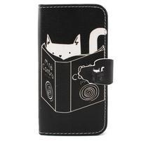 Diaryleather pouzdro na mobil Samsung Galaxy S4 mini - kočička čte