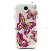 Transparentní gelový obal na Samsung Galaxy S4 mini - motýlci
