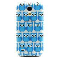 Transparentní gelový obal na Samsung Galaxy S4 mini - modré sovičky