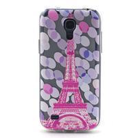 Transparentní gelový obal na Samsung Galaxy S4 mini - Eiffelova věž