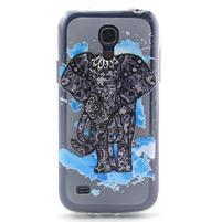 Transparentní gelový obal na Samsung Galaxy S4 mini - slon