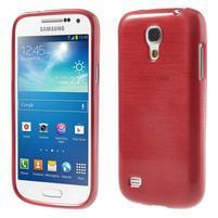 Brushed gelový obal na mobil Samsung Galaxy S4 mini - červený
