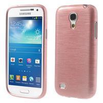 Brushed gelový obal na mobil Samsung Galaxy S4 mini - růžový