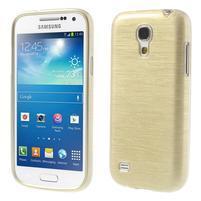 Brushed gelový obal na mobil Samsung Galaxy S4 mini - zlatý