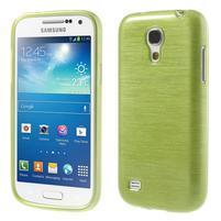 Brushed gelový obal na mobil Samsung Galaxy S4 mini - zelený
