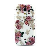 Stylish gelový obal na mobil Samsung Galaxy S4 mini - květiny