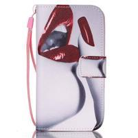 Diary peněženkové pouzdro na mobil Samsung Galaxy S4 mini - sexy rty
