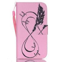 Diary peněženkové pouzdro na mobil Samsung Galaxy S4 mini - love