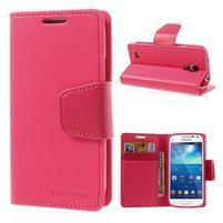 Sonata PU kožené pouzdro na mobil Samsung Galaxy S4 mini - rose