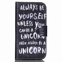 Emotive peněženkové pouzdro na Samsung Galaxy S4 mini - unicorn