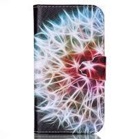 Emotive peněženkové pouzdro na Samsung Galaxy S4 mini - barevená pampeliška
