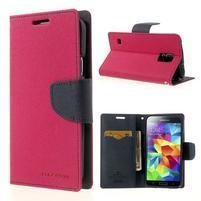 Diary peněženkové pouzdro na Samsung Galaxy S5 - rose