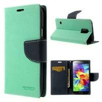 Diary peněženkové pouzdro na Samsung Galaxy S5 - azurové