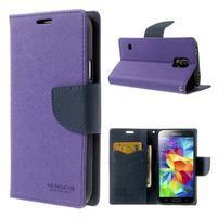 Diary peněženkové pouzdro na Samsung Galaxy S5 - fialové