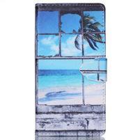 Emotive pouzdro na mobil Sony Xperia M4 Aqua - plážová scenérie