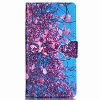 Emotive pouzdro na mobil Sony Xperia M4 Aqua - kvetoucí strom